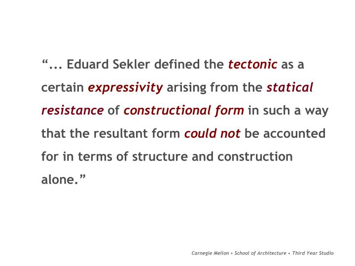"""... Eduard Sekler defined the"