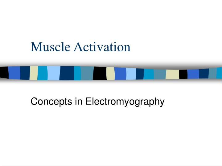 muscle activation n.