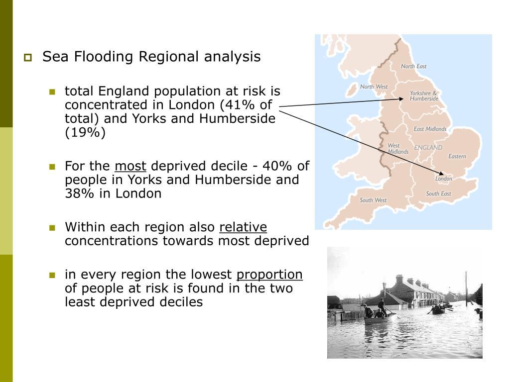 Sea Flooding Regional analysis