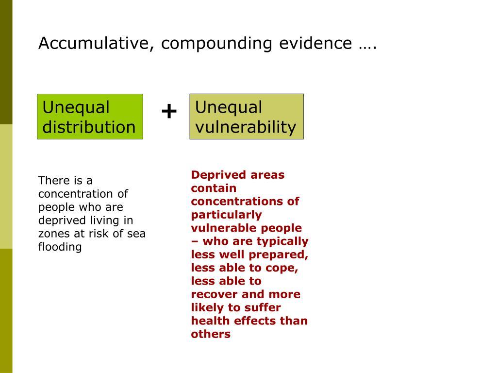 Accumulative, compounding evidence ….