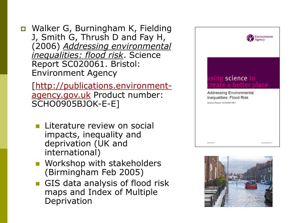 Walker G, Burningham K, Fielding J, Smith G, Thrush D and Fay H, (2006)