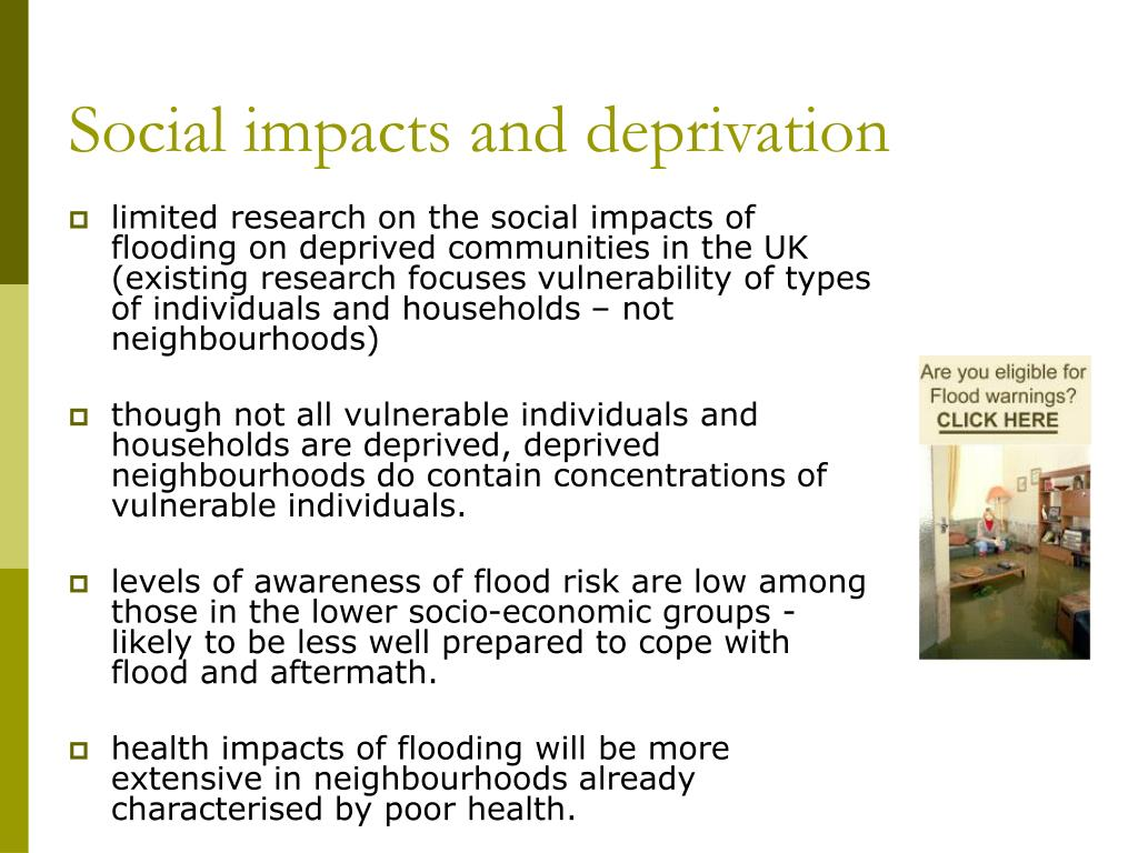 Social impacts and deprivation