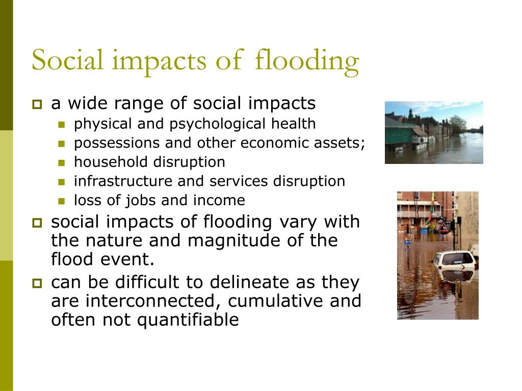 Social impacts of flooding
