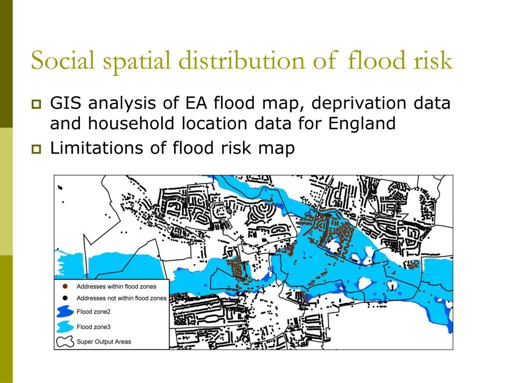 Social spatial distribution of flood risk