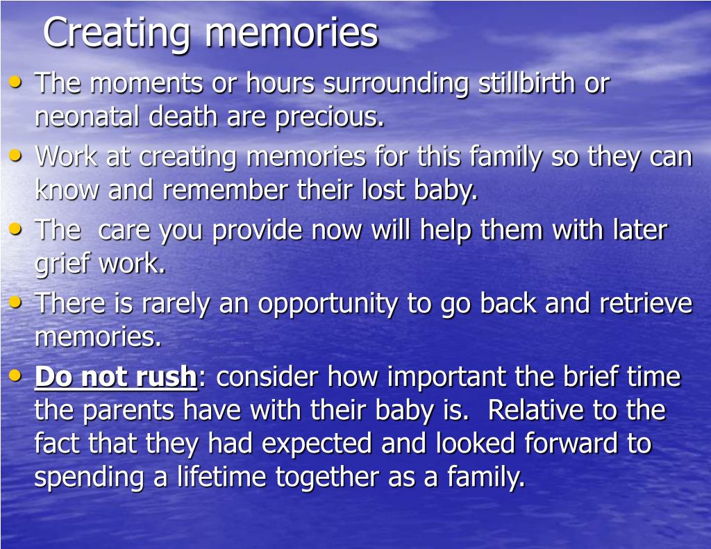 Creating memories