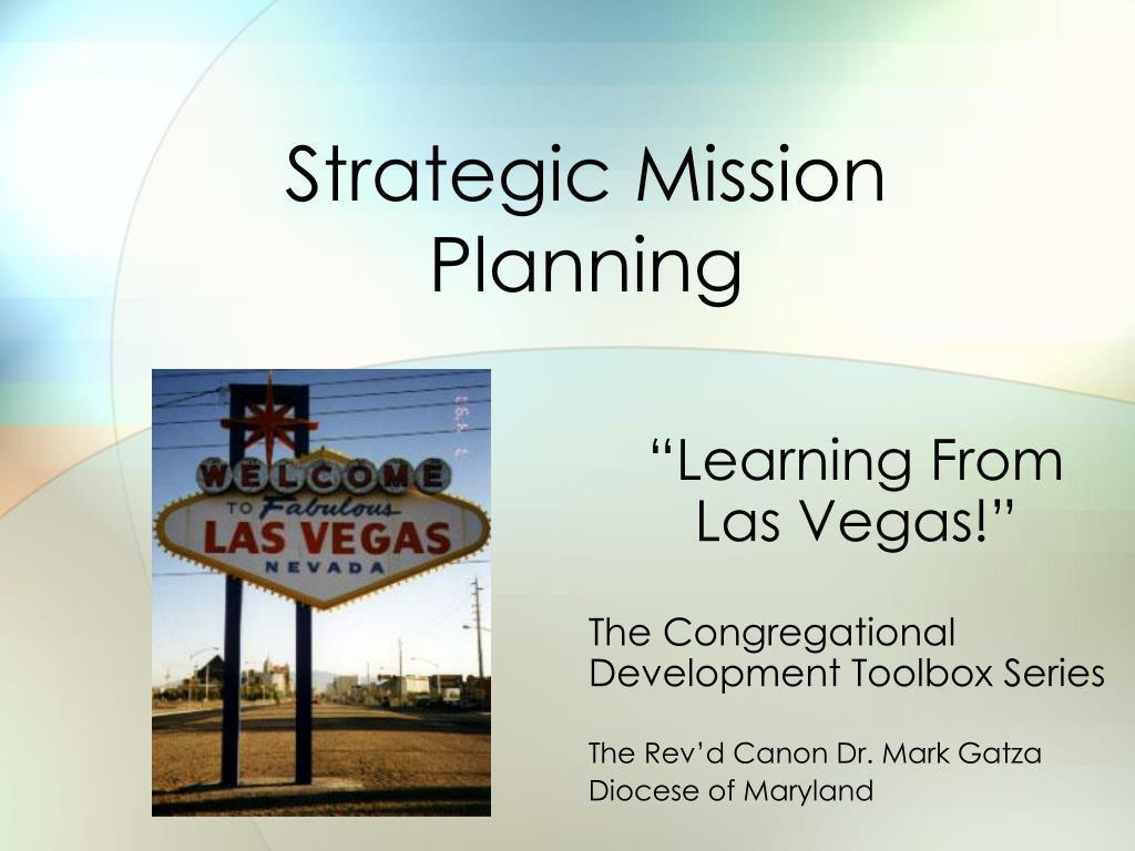 strategic mission planning l.