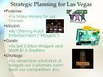 strategic planning for las vegas