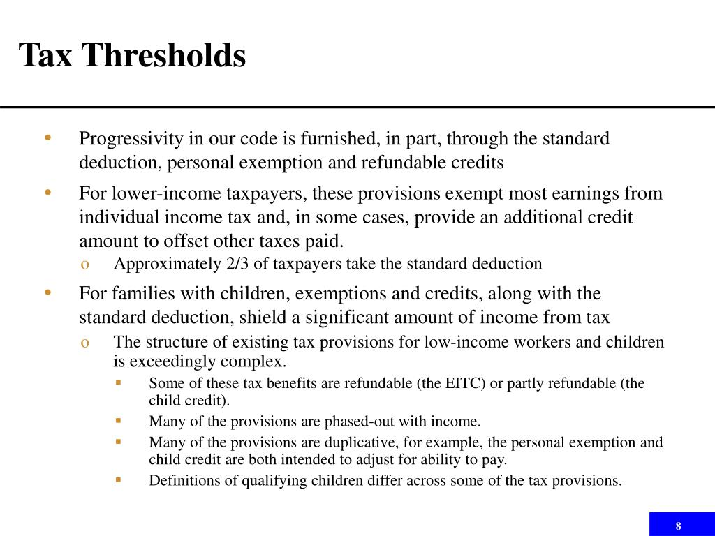 Tax Thresholds