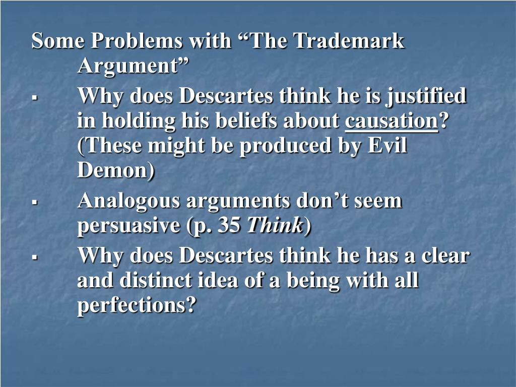 """Some Problems with """"The Trademark Argument"""""""
