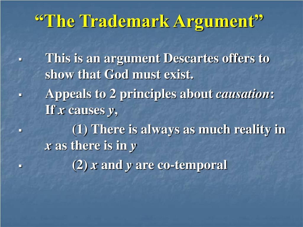 """The Trademark Argument"""
