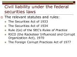 civil liability under the federal securities laws20