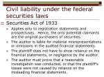 civil liability under the federal securities laws21