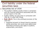 civil liability under the federal securities laws23
