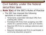 civil liability under the federal securities laws27