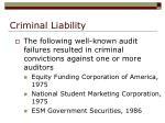 criminal liability32