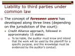 liability to third parties under common law15