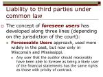 liability to third parties under common law17