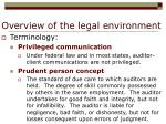 overview of the legal environment5