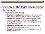 overview of the legal environment6