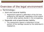 overview of the legal environment7