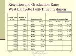 retention and graduation rates west lafayette full time freshmen