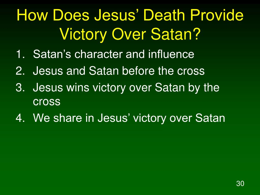 How Does Jesus' Death Provide Victory Over Satan?