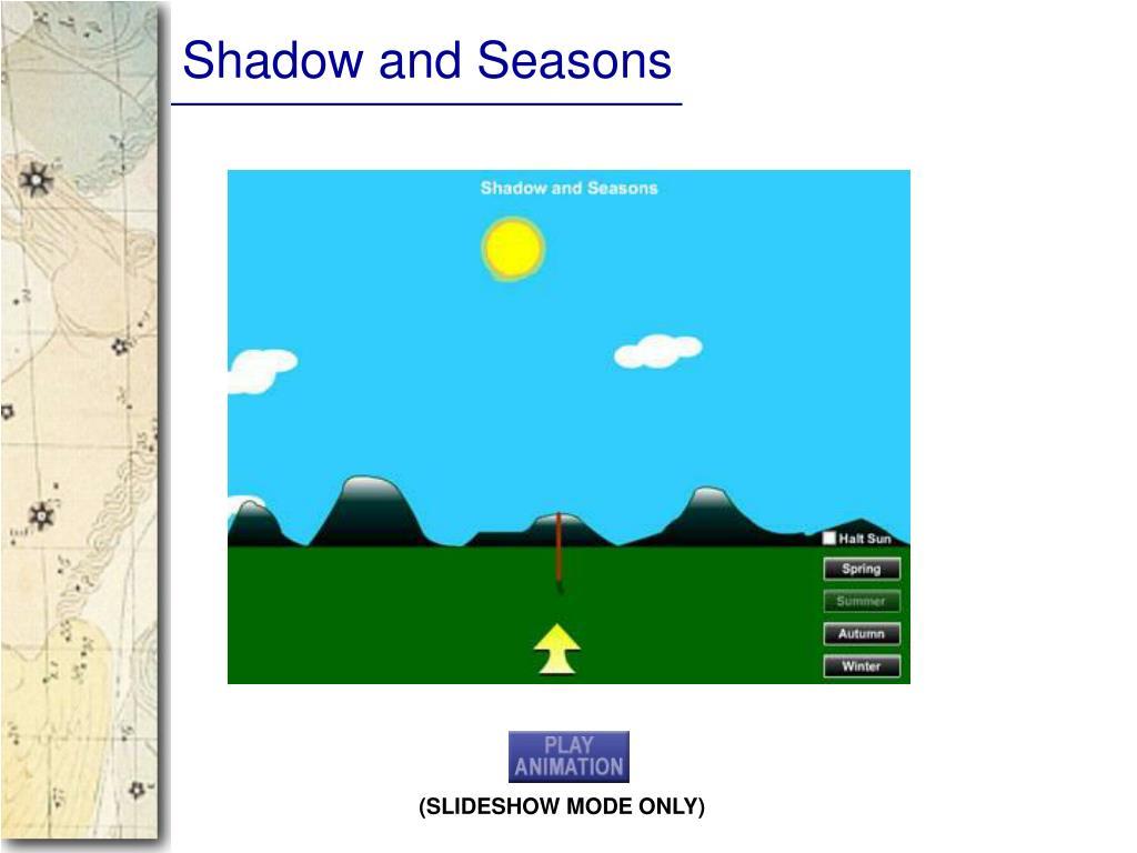 Shadow and Seasons
