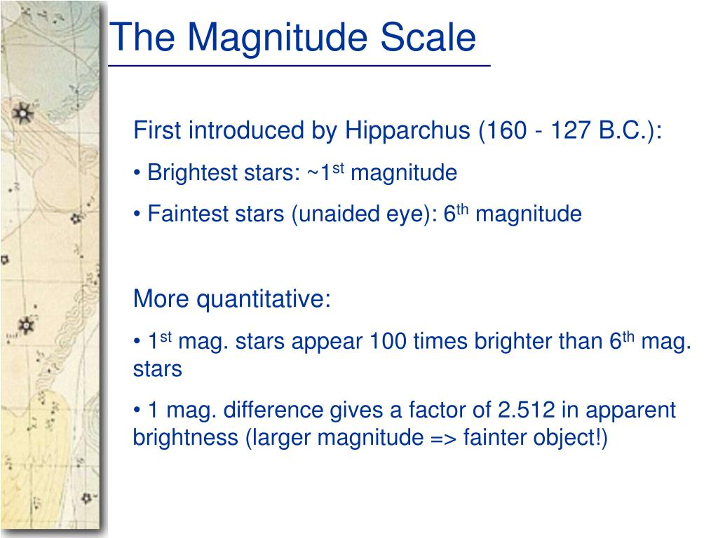 The Magnitude Scale