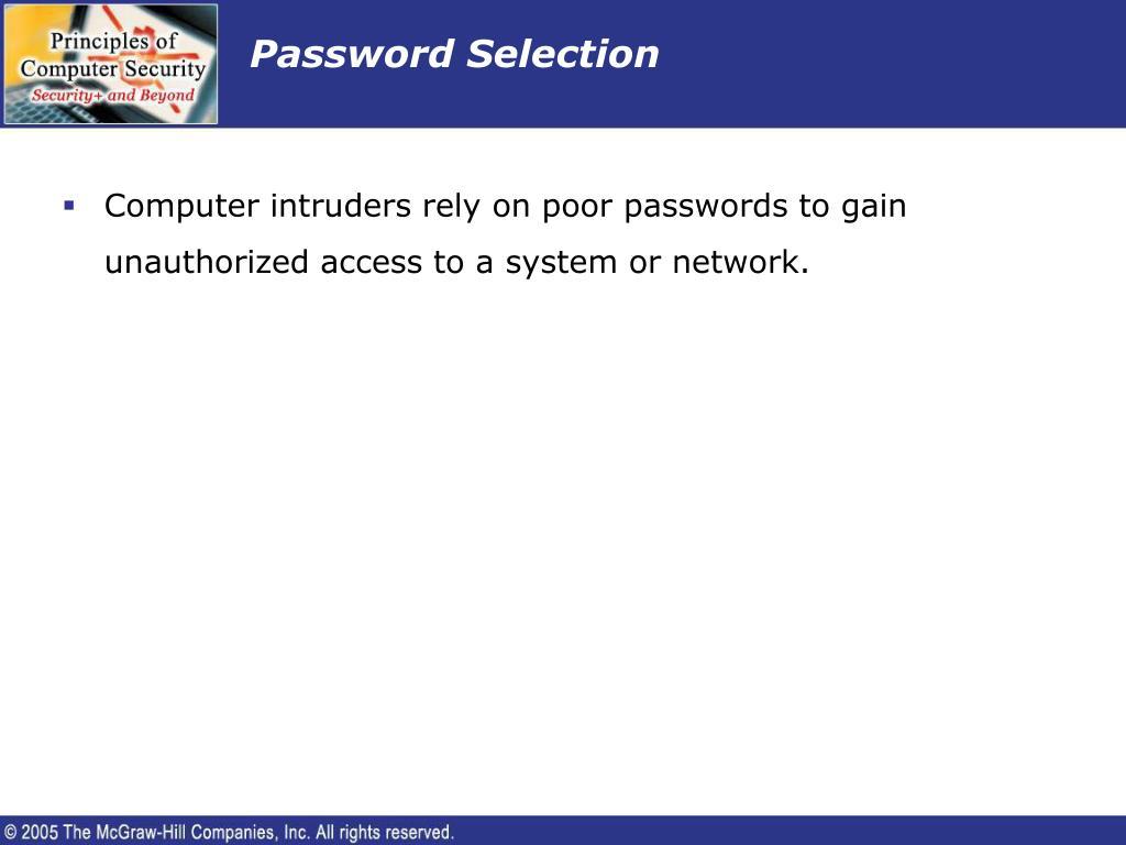Password Selection