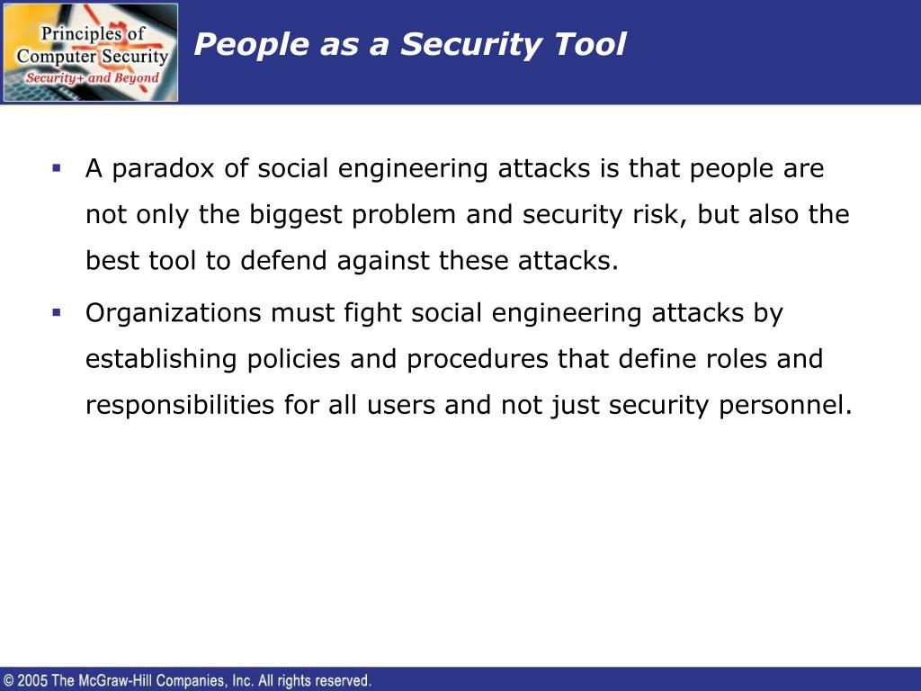 People as a Security Tool