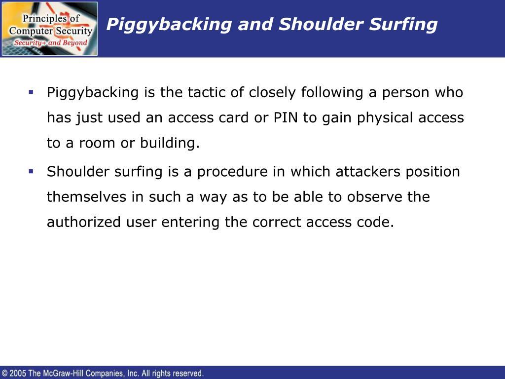 Piggybacking and Shoulder Surfing
