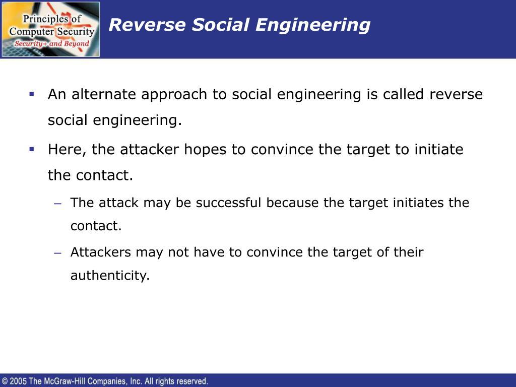 Reverse Social Engineering