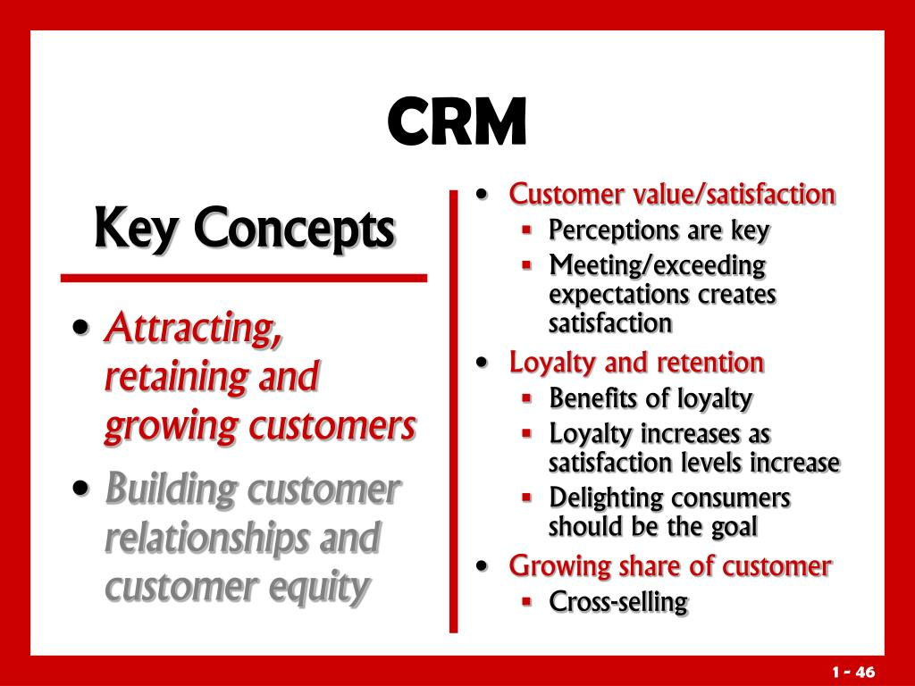 Attracting, retaining and growing customers