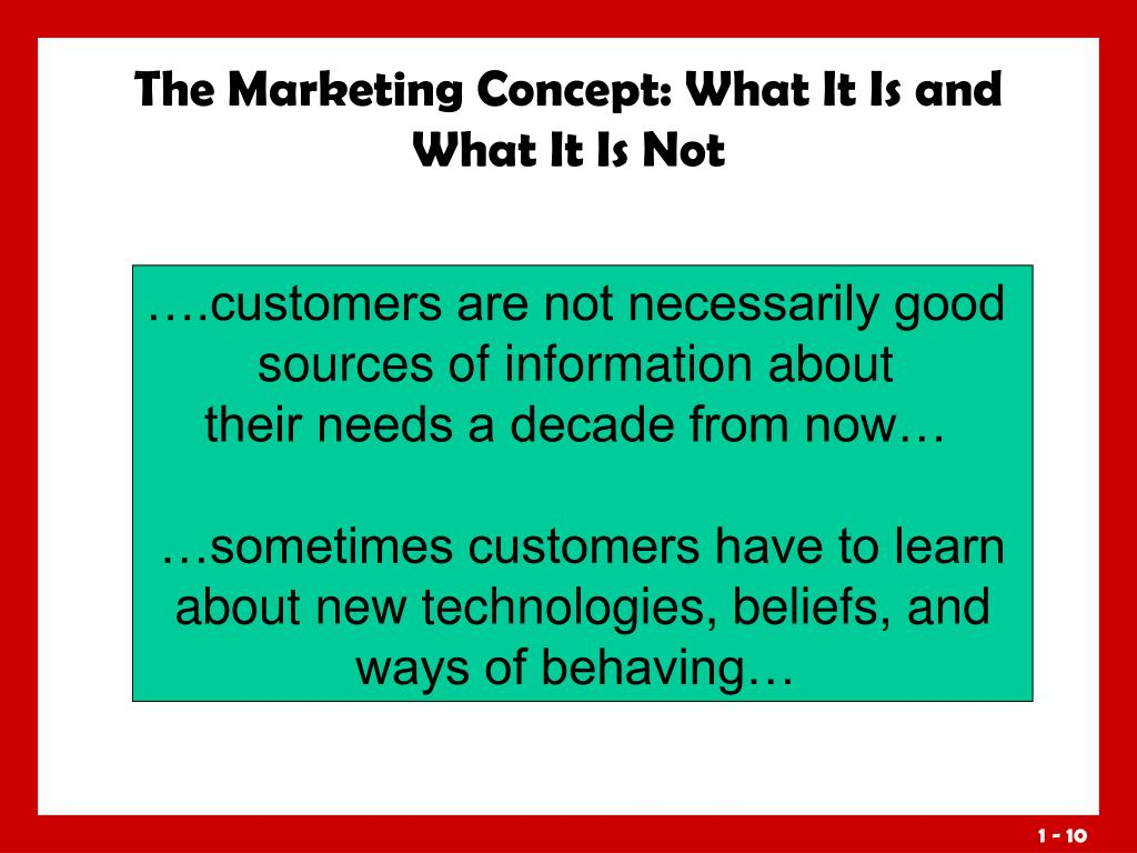 The Marketing Concept: What It Is and