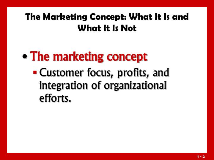 The marketing concept what it is and what it is not3