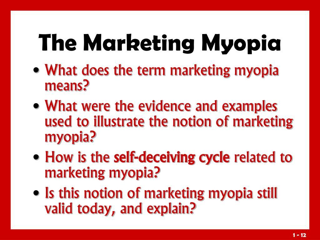 The Marketing Myopia