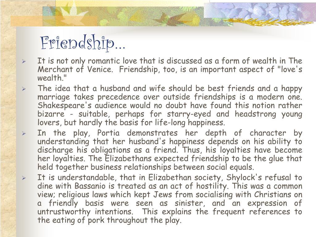 Friendship…