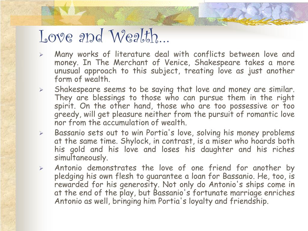 Love and Wealth…
