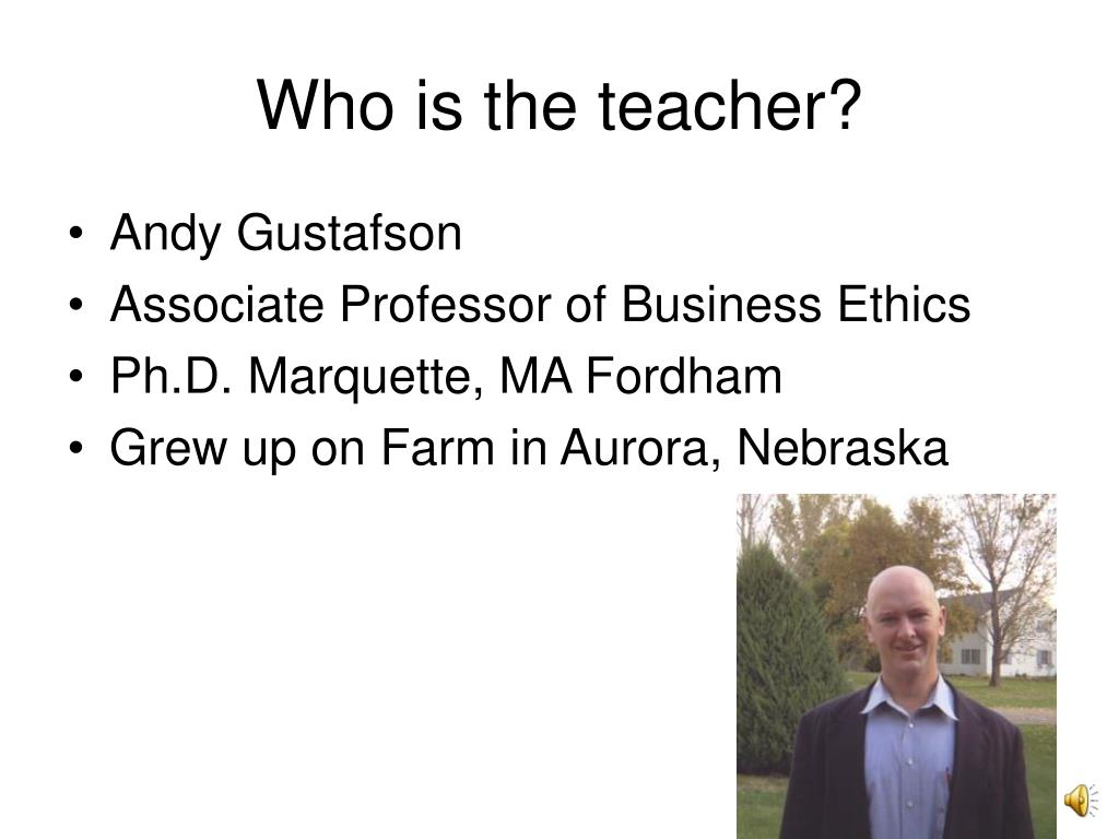 Who is the teacher?