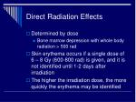 direct radiation effects