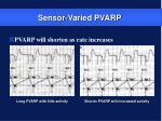 sensor varied pvarp