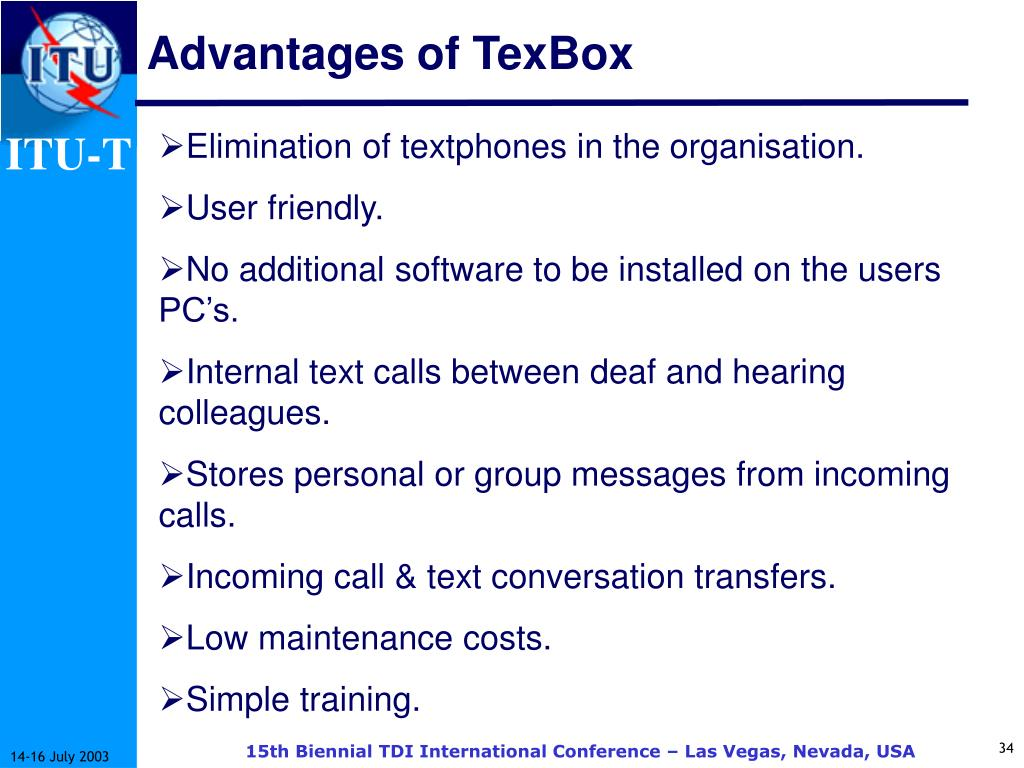 Advantages of TexBox