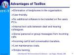 advantages of texbox