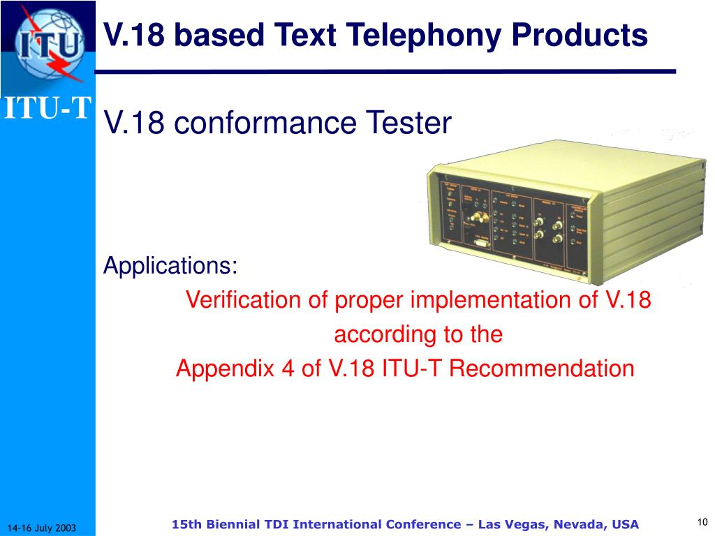 V.18 based Text Telephony Products