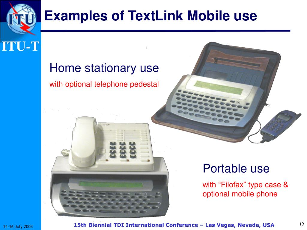 Examples of TextLink Mobile use