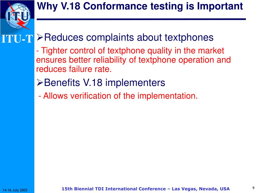 Why V.18 Conformance testing is Important