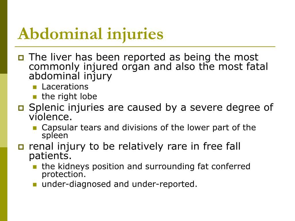 Abdominal injuries