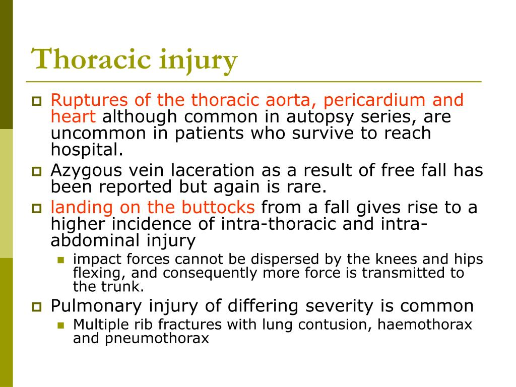 Thoracic injury