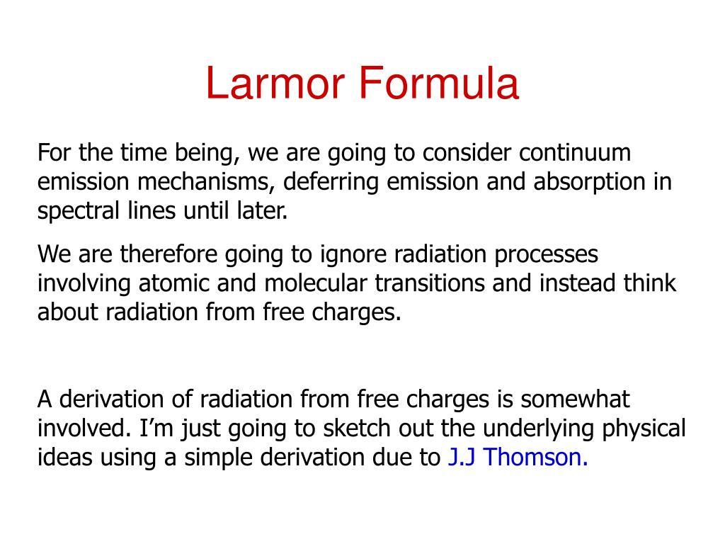 Larmor Formula