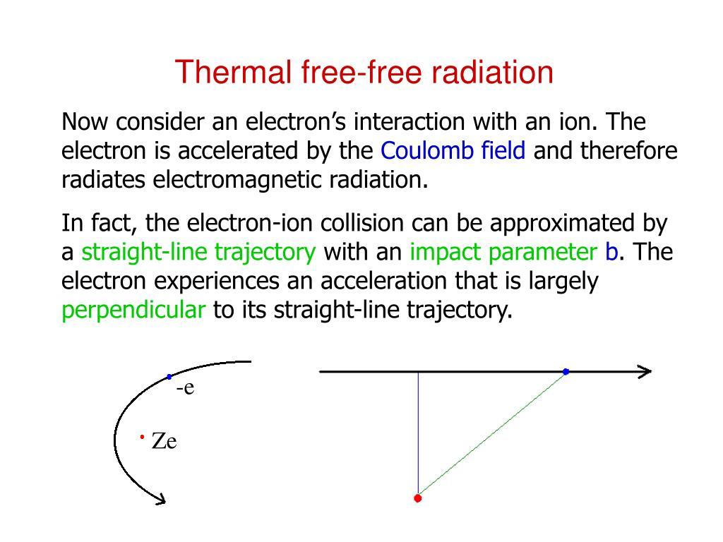 Thermal free-free radiation